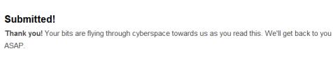 WordPress contact message