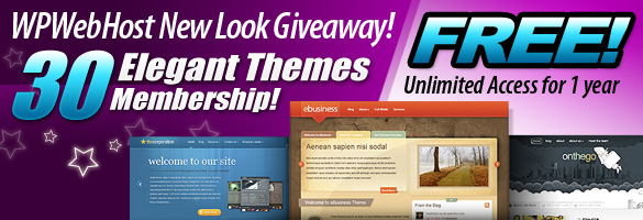 wpwh new look giveaway Win Elegant Themes at WPWebHost New Look Giveaway