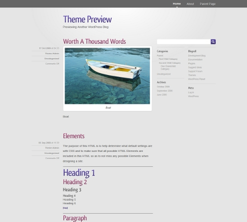 WordPress theme - Smooth