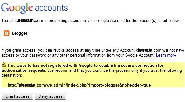 Google Account Authorization