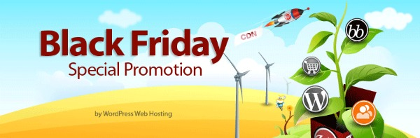 Black Friday and Cyber Monday Special Promotion by WPWebHost
