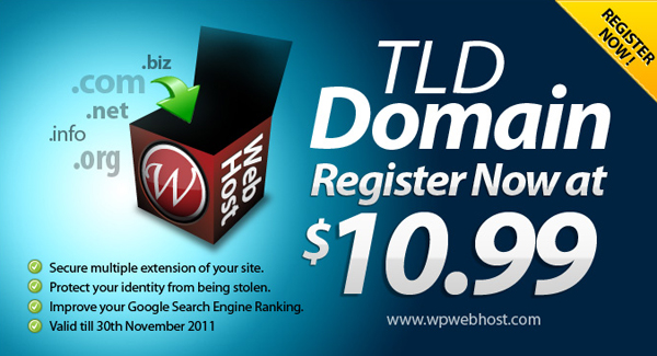 Cheap Domain Name Registration by WPWebHost