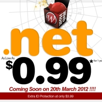 Limited $0.99 .Net Extension Domain Crazy Promotion !!!