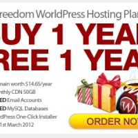 St. Patrick's Day 2012 Promotion: Buy 1 Year Freedom Plan, Free 1 Year