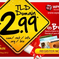 Crazy Promotion : Limited $2.99 Domain Sales and Special Giveaway