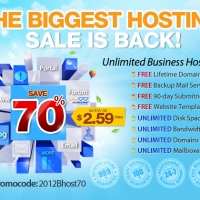 70% Off Promo for Unlimited Shared Hosting by Exabytes (US)