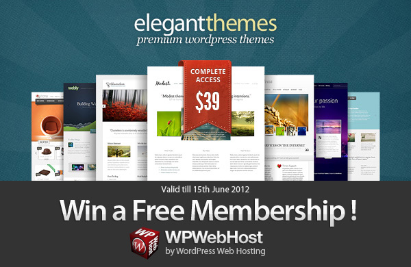 Elegant Theme Giveaway : Winner Announced