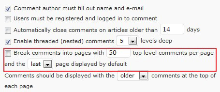 Paginating Comments