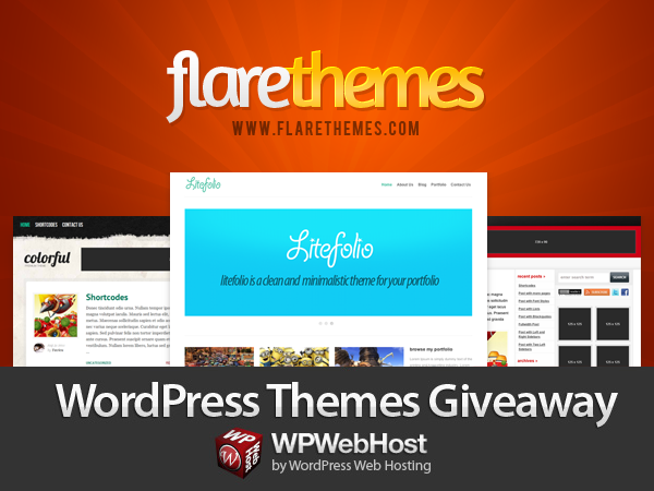 Tweet and Win Flarethemes Giveaway by WPWebHost