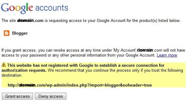 Google Account Authorization