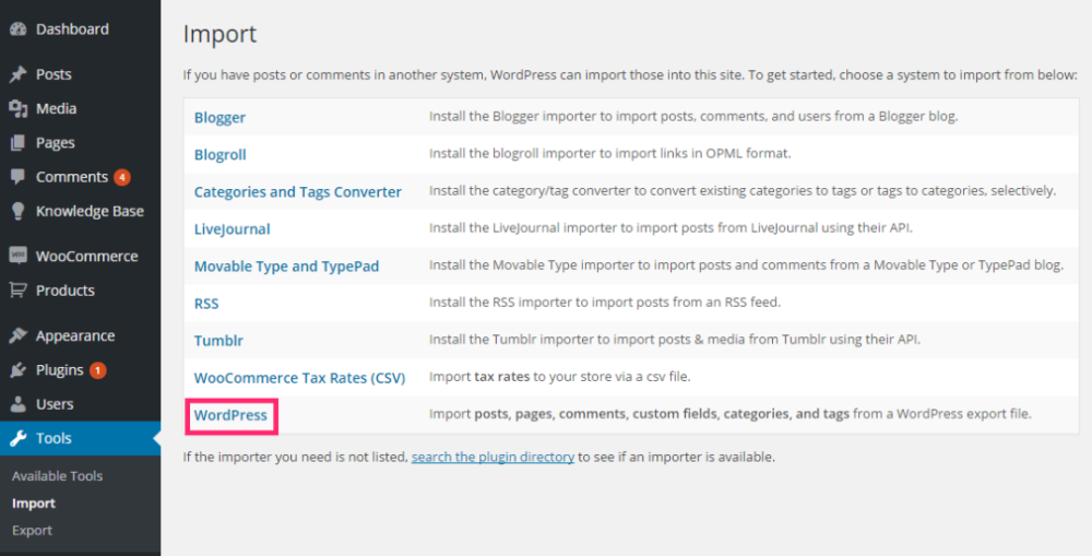 WordPress Importer Tools