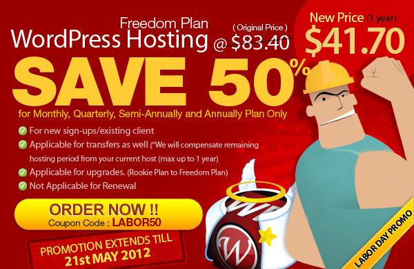 Labor Day Promo by WordPress Hosting