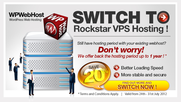 Switch Program to Rockstar VPS Hosting by WPWebHost