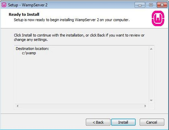 Install WampServer step 5